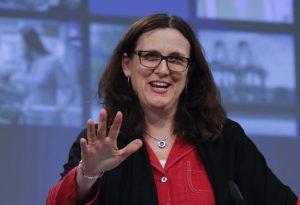 EU Trade Commissioner Cecilia Malmström   EPA/Olivier Hoslet